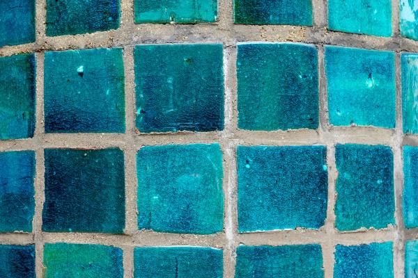 Mosaic swimming pool tiles